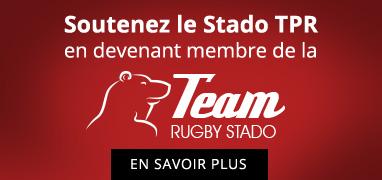Soutenez le Stado TPR en devenant membre de la Team Rugby Stado - En savoir plus